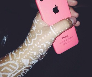 pink, iphone5c, and whitetattoo image