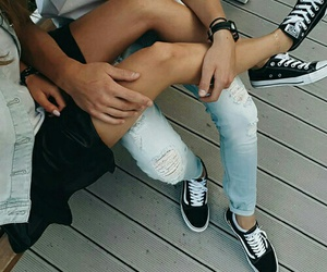 casual, converse, and couples image