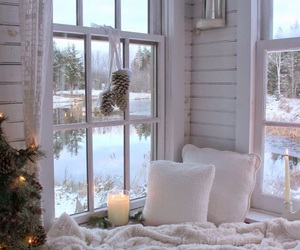 living room, nook, and winter image