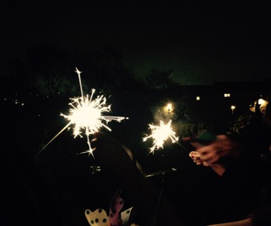 autumn, fireworks, and sparklers image