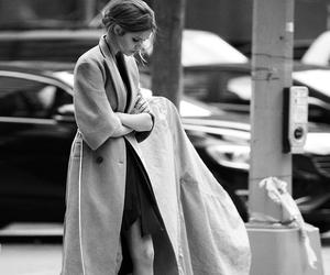 fashion, black and white, and coat image
