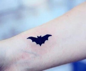 tattoo, batman, and bat image