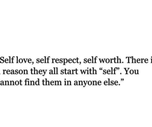quote, self love, and self worth image