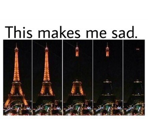 paris, sad, and prayforparis image