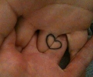 love, heart, and tattoo image