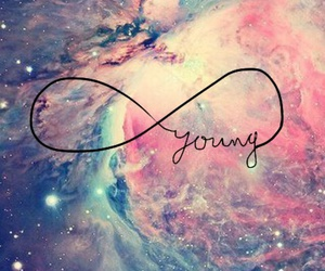 young, galaxy, and infinity image