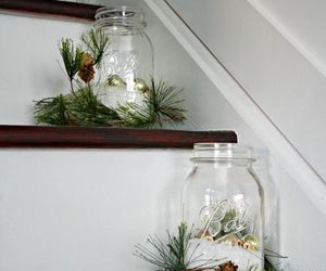 stairs, decoration, and winter image