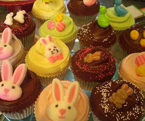 bunny, cupcakes, and easter image