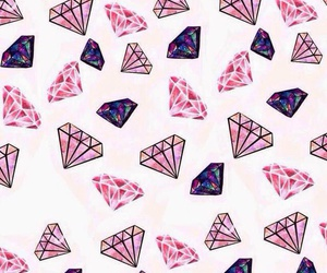 background, wallpapper, and diamonds image