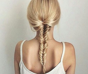 hair, girl, and fishtail image