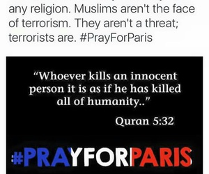 paris, prayforparis, and muslim image