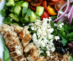 Chicken, fitness, and salad image