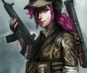 human, MLP, and pinkie pie image