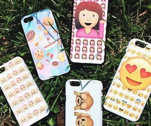 emoji, iphone, and case image