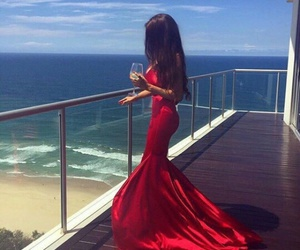 dress, red, and girl image