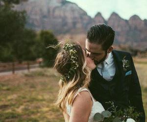 kiss, beautiful, and bride image