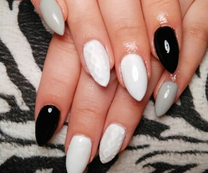black, grey, and nails image