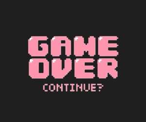 game, pink, and game over image