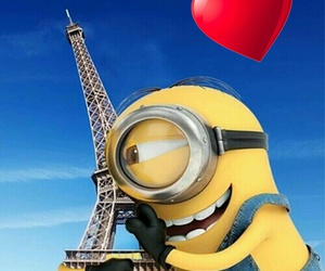 heart, minions, and pray for paris image