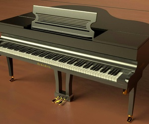 3d, piano, and blender image