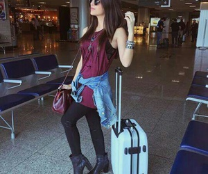 look, airport, and style image