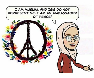 grunge, muslims, and peace image