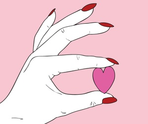 heart, pink, and hand image