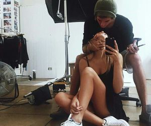couple, iphone, and selfie image