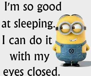 minions, funny, and sleeping image
