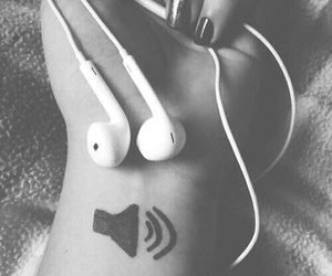 black and white, music, and headphones image