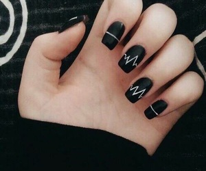 nails, black, and arctic monkeys image