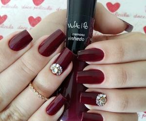 nails, unhas, and esmalte image