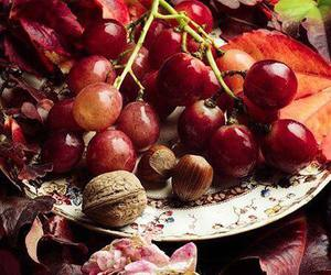 grapes, autumn, and red image