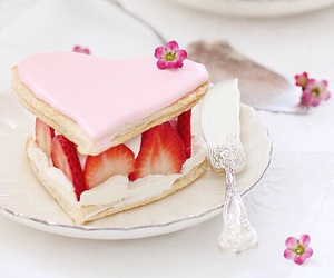 sweet, pink, and strawberry image