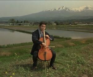 cello, film, and okuribito image