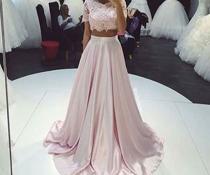 beautiful dress, outfit, and pink dress image