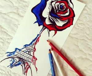 paris, prayforparis, and art image