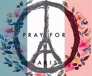 paris, prayforparis, and peace image