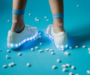 blue, shoes, and light image