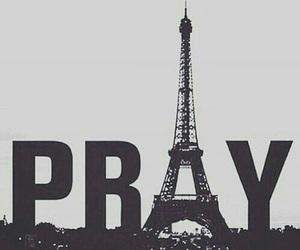 paris, prayforparis, and pray image