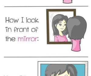 mirror, photo, and look image