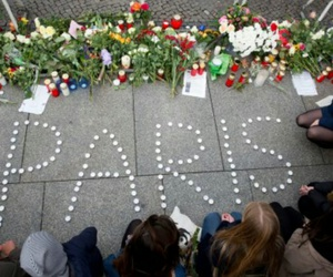 candles, flowers, and paris image
