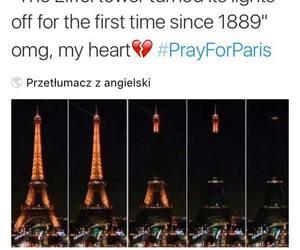eiffel tower, paris, and pray image