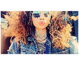 curly hair, glasses, and gorgeous image