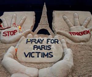 paris france, peace, and pray image