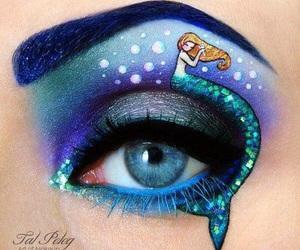 mermaid, makeup, and eye image