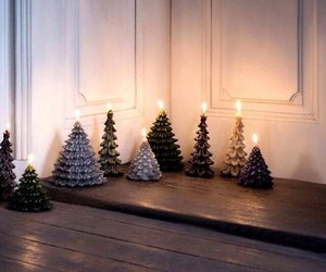 christmas, candle, and christmas tree image
