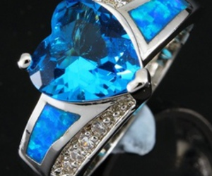blue, rings, and heart rings image