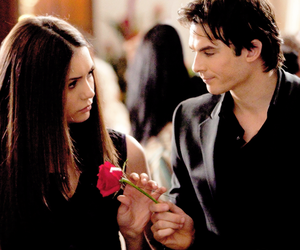 the vampire diaries, elena gilbert, and delena image