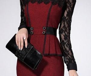 encaje, skirt, and red image
